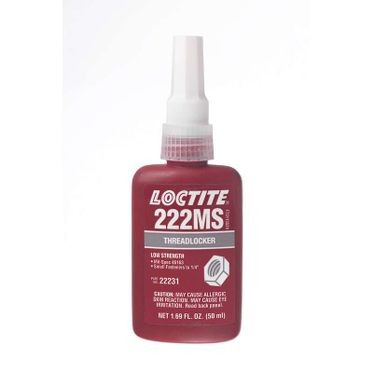 222MS™ Threadlocker Low Strength 50 ml Bottle