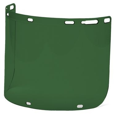 Dark Green Polyethylene Face Shield