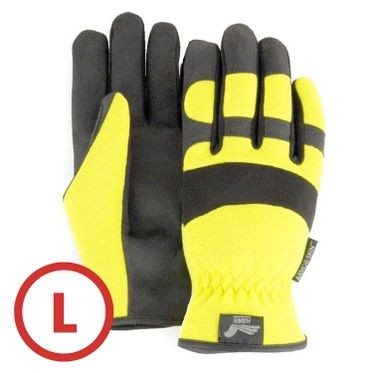 Mechanics Style Hi-Vis Yellow Glove Large