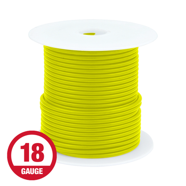 Primary Wire 18 Gauge Yellow 100' Spool