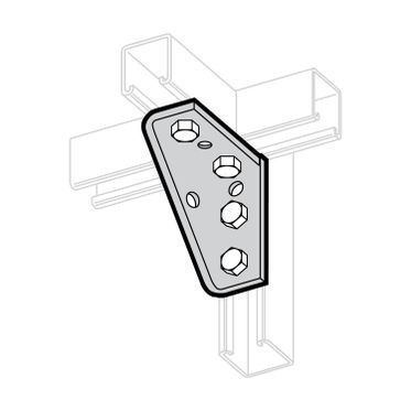 Zinc Plated Universal Shelf Bracket