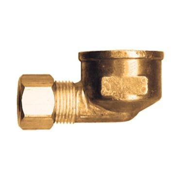 Brass 90° Compression Elbow 3/8