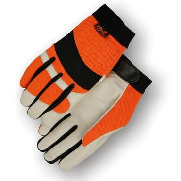 Mechanic Style Hi-Vis Orange Glove Medium