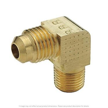 Brass 90° Extruded Elbow SAE 45° Flare 3/8