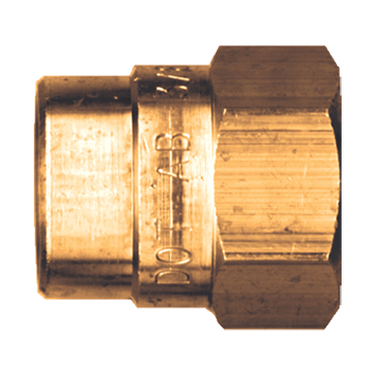 Brass DOT Air Brake Nut 3/8