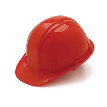 Red 6-Point Ratchet Hard Hat Cap Style
