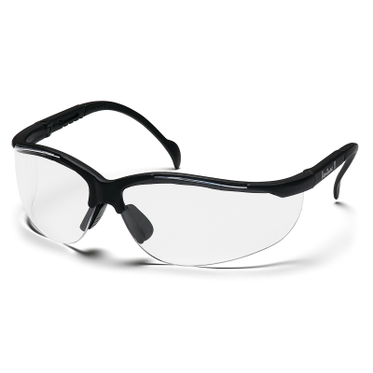 Venture II Clear Lens/Black Frame Safety Glasses