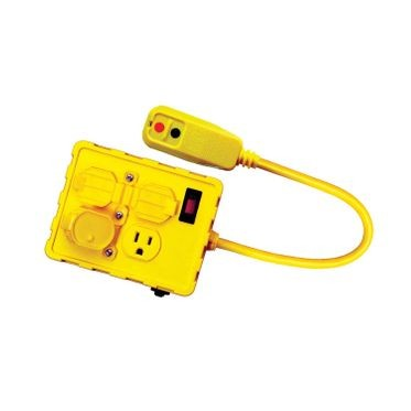 GFCI Protected Quad Outlet Box 125 Volt/15 Amp
