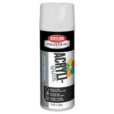 Krylon Acryli-Quik Spray Paint Gloss White 12 Fluid Ounces