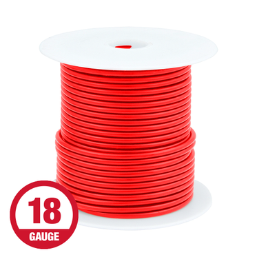 Primary Wire 18 Gauge Red 100' Spool
