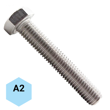 M10-1.5 x 16mm Stainless Steel Hex Head Cap Screw A2