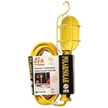 25 Foot Work Light Metal Guard with Outlet