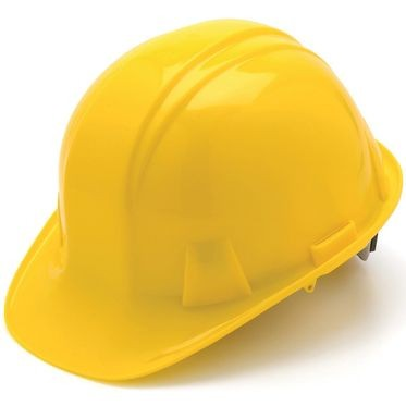 Yellow 6-Point Ratchet Hard Hat Cap Style