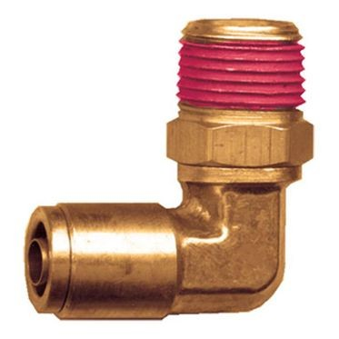 Brass DOT Swivel Elbow 1/4