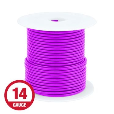 Primary Wire 14 Gauge Purple 100' Spool