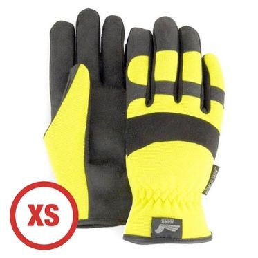 Mechanics Style Hi-Vis Yellow Glove XS