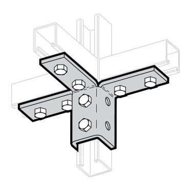 Zinc Plated Triple Wing Connection 6-Hole Mount