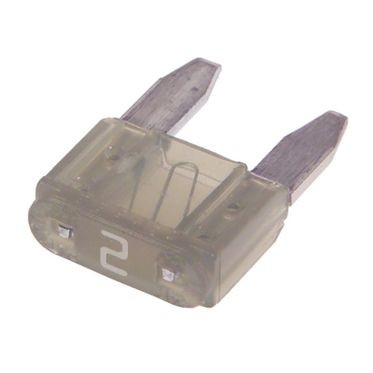Gray Mini Fuse 2 Amp, 5 per Box