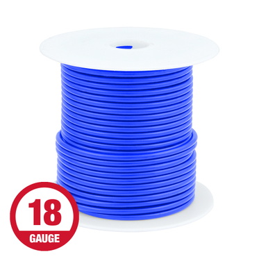 Primary Wire 18 Gauge Blue 100' Spool