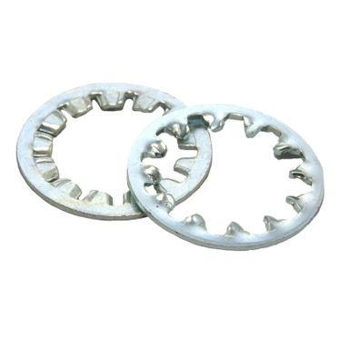 #8 Zinc Plated Internal Tooth Lock Washer