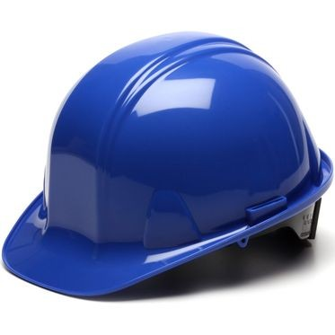 Blue 6-Point Ratchet Hard Hat Cap Style