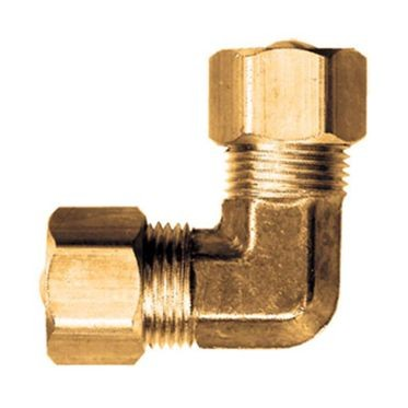 Brass 90° Elbow Compression 1/4