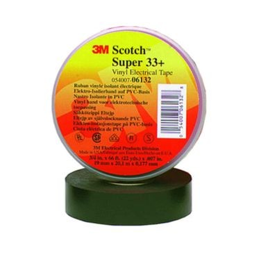 3M Black Electrical Tape 3/4