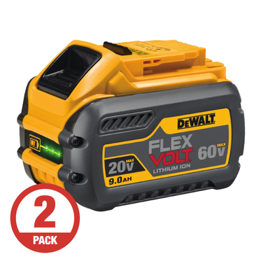 DeWalt 60V MAX Flexvolt Battery 9.0 AH (2 Per Pack)