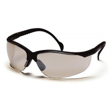 Venture II Indoor/Outdoor Mirror Lens/Black Frame Safety Glasses