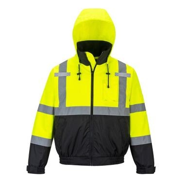 Class 3 Bomber Jacket Lime/Black Medium