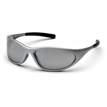 Zone II Silver Mirror Lens/Silver Frame Safety Glasses