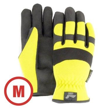 Mechanics Style Hi-Vis Yellow Glove Medium