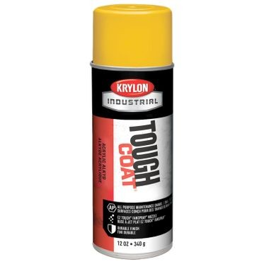 Krylon Tough Coat Spray Paint OSHA Yellow 12 Fluid Ounces