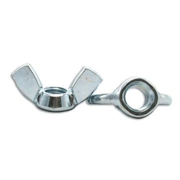 M6-1.0 Zinc Plated Wing Nut