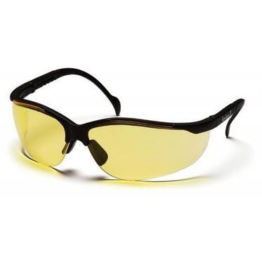Venture II Amber Lens/Black Frame Safety Glasses