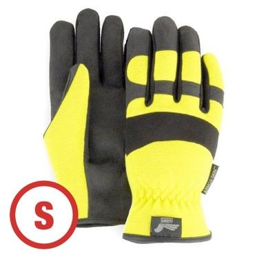 Mechanics Style Hi-Vis Yellow Glove Small