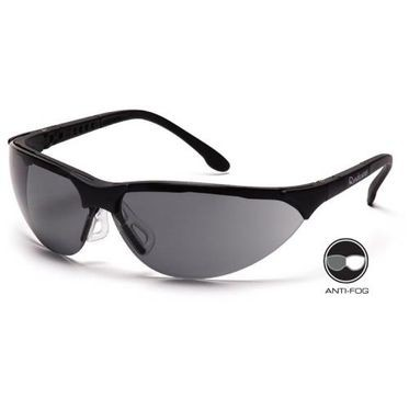 Rendezvous Anti-Fog Gray Lens/Black Frame Safety Glasses