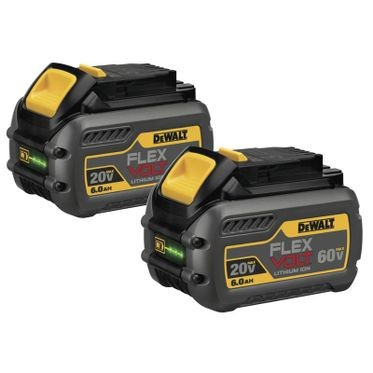 DeWalt FLEXVOLT™ 20/60V 6.0 AH Battery (2 Per Pack)