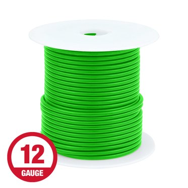 Primary Wire 12 Gauge Green 100' Spool