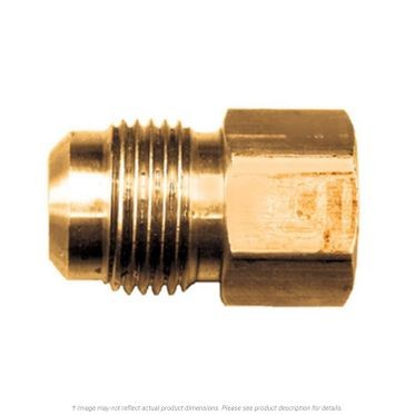 Brass Female SAE 45° Flare Connector 3/8 Tube x 3/8 FPT