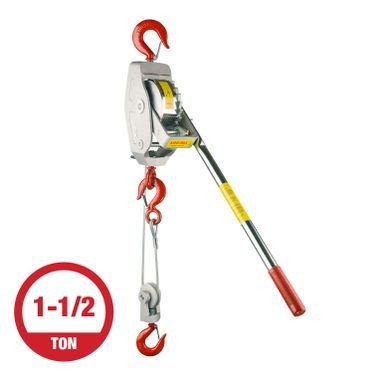 Lug-All 1-1/2 Ton Cable Winch Hoist