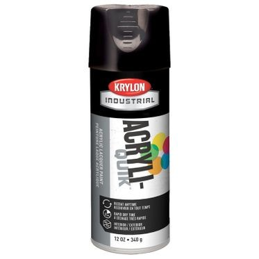 Krylon Acryli-Quik Spray Paint Gloss Black 12 Fluid Ounces