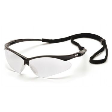 PMXTREME Anti-Fog Clear Lens/Black Frame Safety Glasses