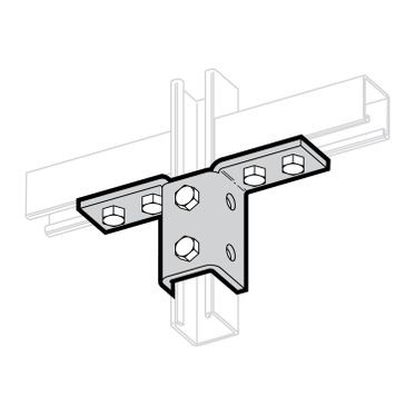 Zinc Plated Double Wing Connection 6-Hole Mount