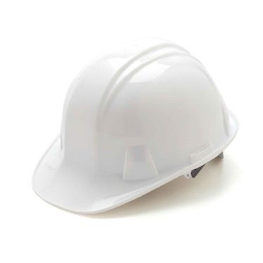 White 6-Point Ratchet Hard Hat Cap Style