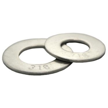 #6 Stainless Steel Flat Washer 316