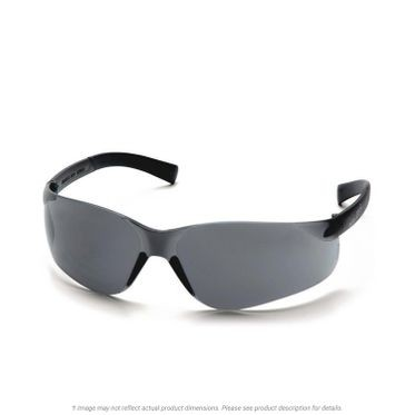 Mini ZTek Gray Lens & Frame Safety Glasses