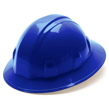 Blue 4-Point Ratchet Full Brim Hard Hat