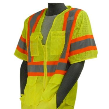 Class 3 Safety Vest Lime Mesh Large