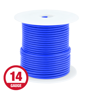 Primary Wire 14 Gauge Blue 100' Spool